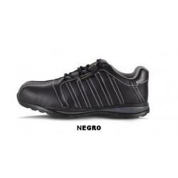 Zapato piel cordones,suela goma